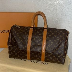 Authentic Louis Vuitton keepall 45 duffle travel travel suitcase